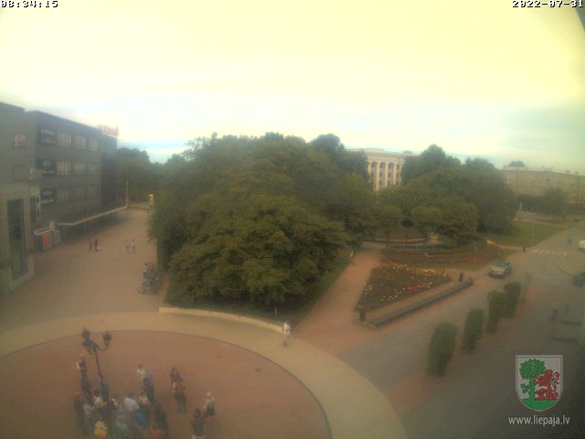 Webcam in Liepaja - Rozu Square
