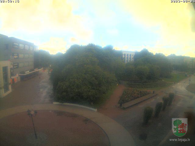 Webcam in Liepaja - Rozu Square