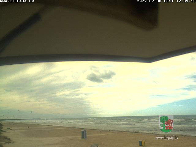 Webcam in Liepaja - Baltic Sea beach